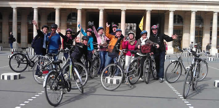 balade à vélo + activité ludique paris