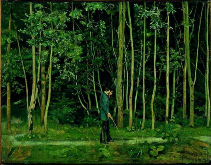 Morgenstimmung im Bois de Boulogne – Drei Herren