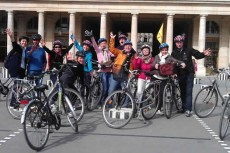 Bicycle Rally In the heart of Paris