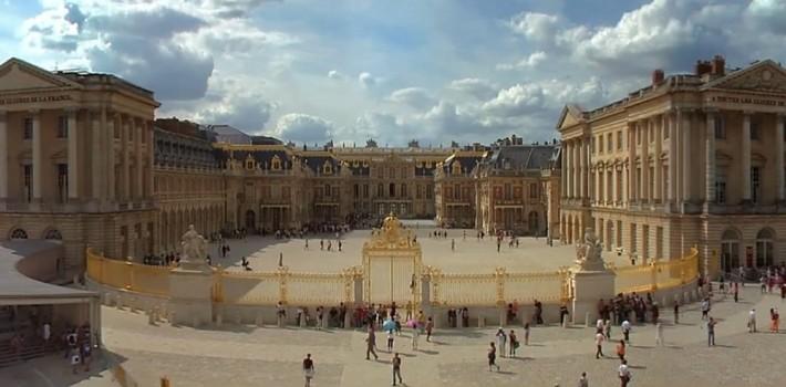 Per Rad durch Versailles